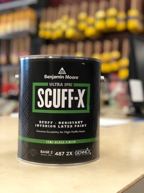 Scratch resistant and durable wall paint - Benjamin Moore Scuff-x